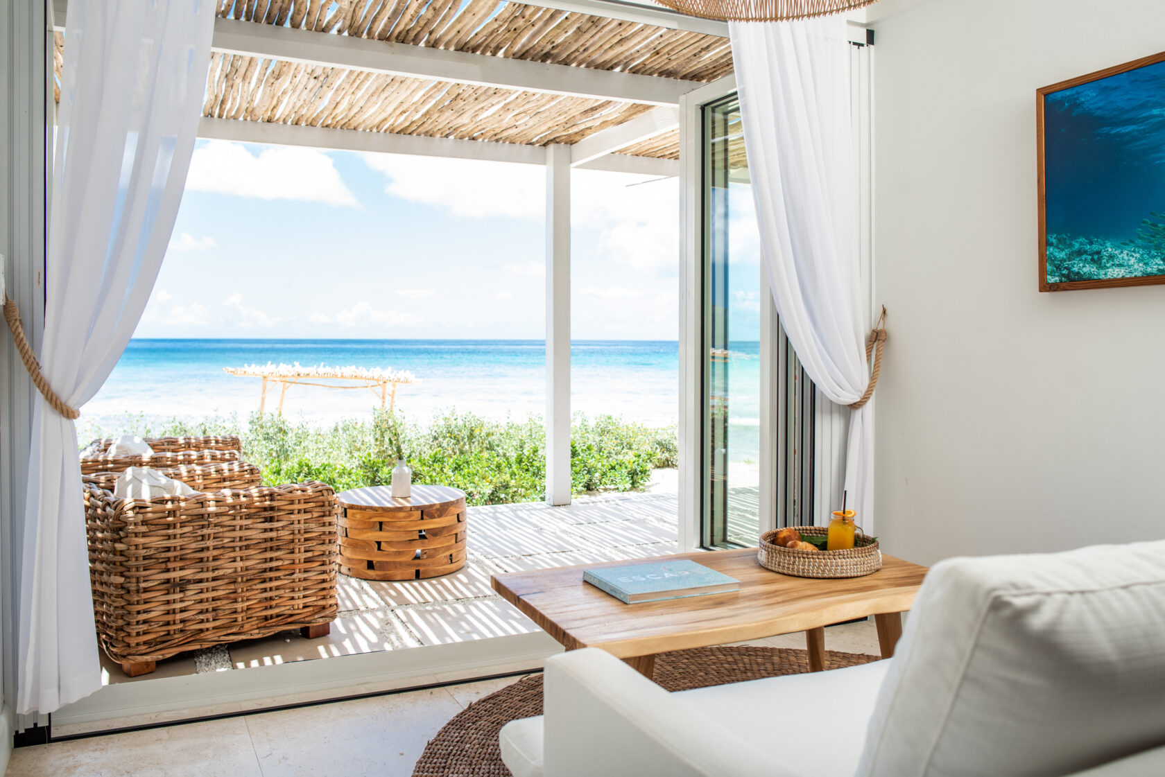Beachside covered porch