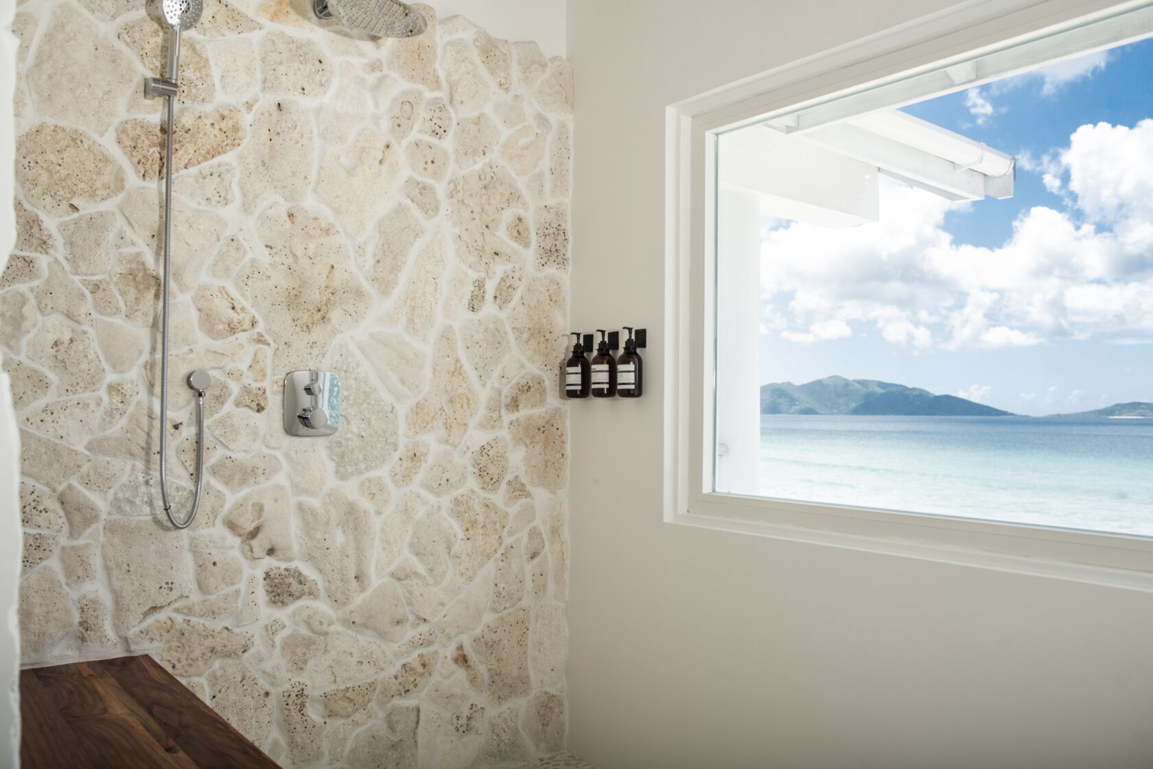Shower with an ocean view