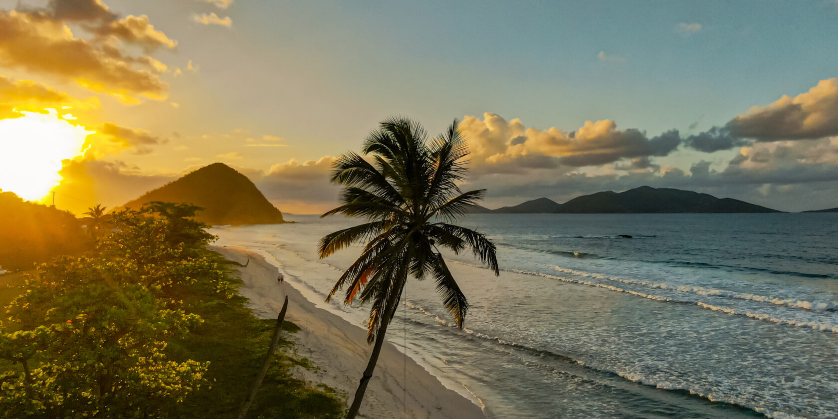 The view from Long Bay Beach Resort on the island of Tortola, BVI